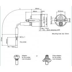 VDO Cockpit International Coolant temperature mechanical