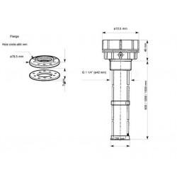 VDO ViewLine Waste Water Level Kit 4-20mA White 52mm