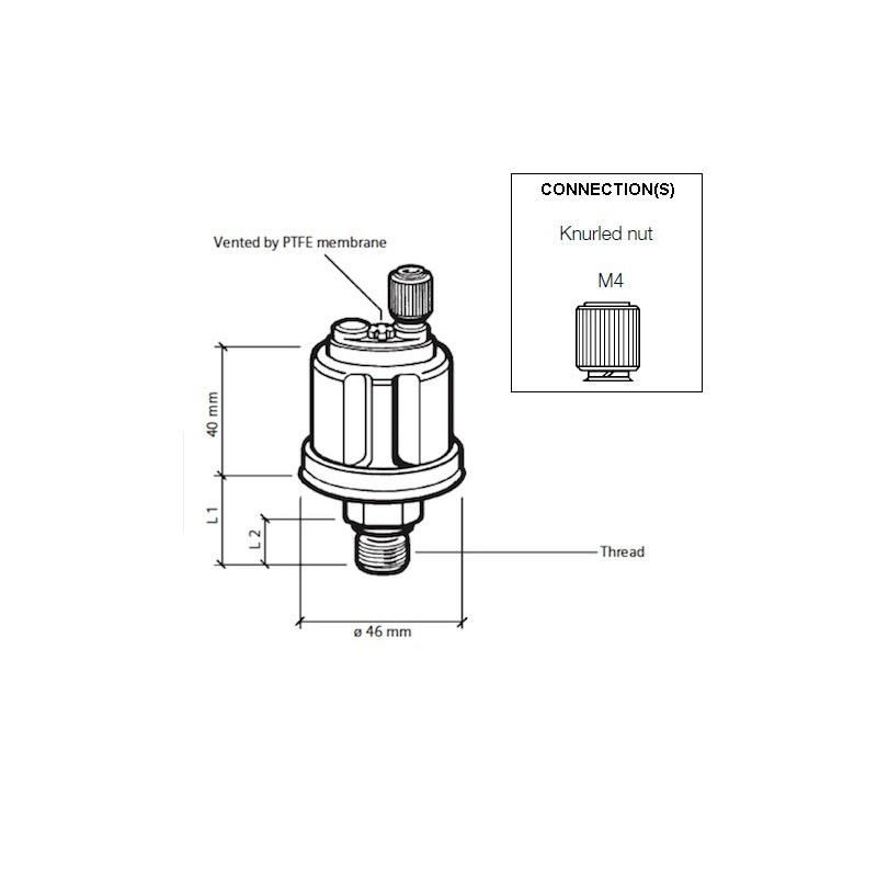 VDO Pressure sender 0-5 Bar