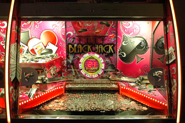Black Jack 2 player  Coin Pusher  VDW International