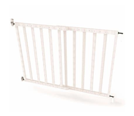 Noma Extending Safety Gate 63.5-106 cm Wood White 94153