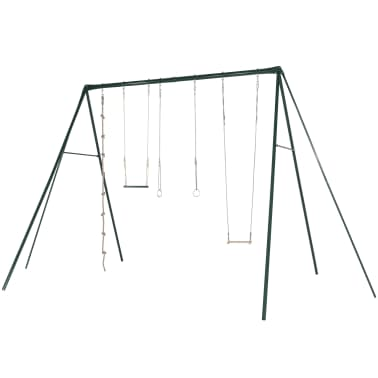 TRIGANO Adult Swing Set Silver 600x350x350 cm Steel J-4577