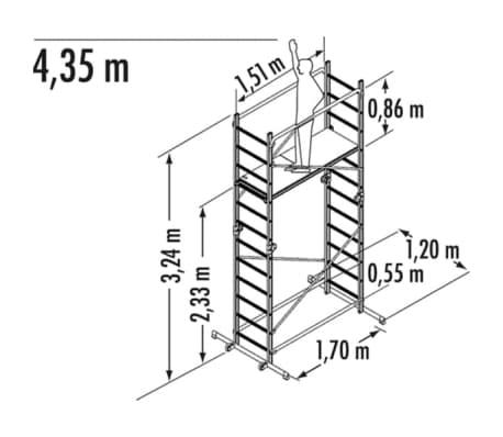 Handla Hailo Byggnadsställning/stege 1-2-3 500 Combi 324cm