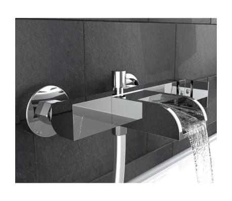 details sur schutte mitigeur de baignoire avec bec verseur cascade idrovia chrome robinet