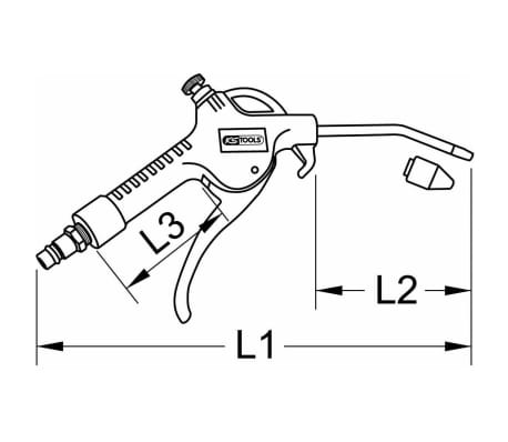 KS Tools Air Blow Gun with Flow Regulation 515.1901