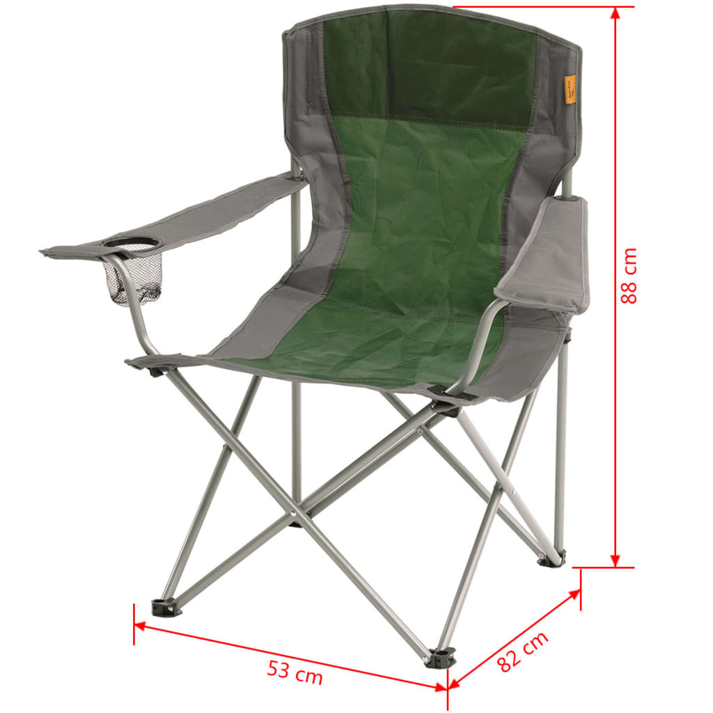 Sturdy Camping Chair Easy Camp Folding Camping Chair Sandy Green 53x82x88 Cm 480046