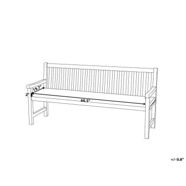 Handla Dyna till trädgårdsbänk blå/vit zigzag TOSCANA JAVA