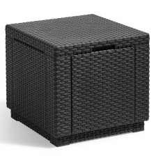 Allibert Σκαμπό με Αποθηκευτικό Χώρο Cube Χρώμα Γραφίτης 213816
