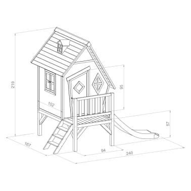 SUNNY Speelhuisje voor kinderen Cabin XL met glijbaan