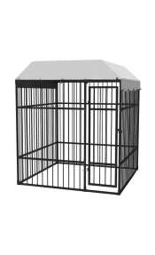 vidaXL Κλουβί Σκύλου Εξωτ. Χώρου Υψηλής Αντοχής 2 x 2 μ. με Στέγαστρο