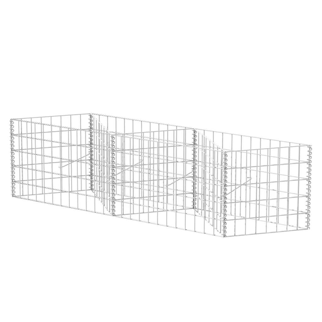 Gabion Basket Planter Raised Vegetable Bed Steel Wall