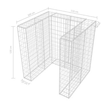 Handla vidaXL Gabionkorg med skydd för 1 soptunna stål