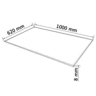 vidaXL Tafelblad van gehard glas 1000x620 mm rechthoekig