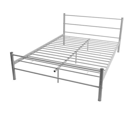 vidaxl cadre de lit metal gris 140 x 200 cm 2 8