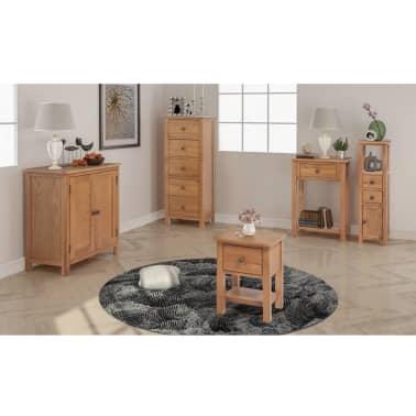 oak furniture set living room candice olson colors vidaxl five piece solid com au 1 33