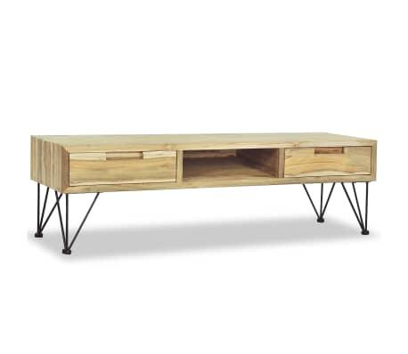 vidaxl meuble tv 120 x 35 x 35 cm teck massif