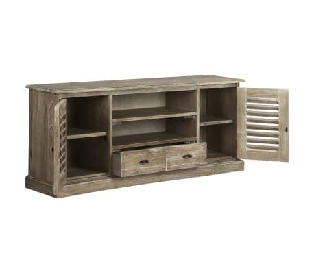 vidaxl meuble tv bois de melia azedarach massif 145 x 35 x 60 cm