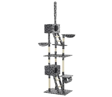 vidaXL Arbre à chat avec griffoir en sisal 230-260cm Gris