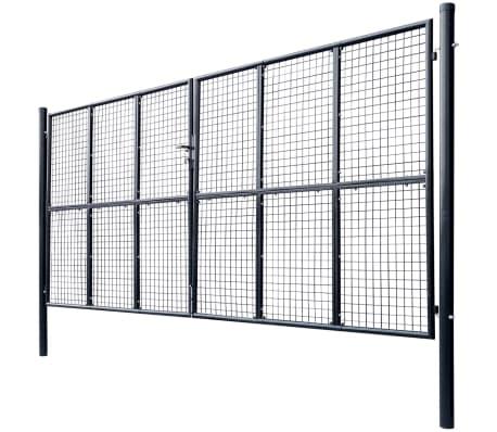 vidaXL Tuinhek 400x200 cm mesh gegalvaniseerd staal grijs