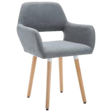 Nakupte vidaXL Jídelní židle textilní čalounění 4 ks