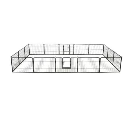vidaXL Box per Cani con 16 Pannelli in Acciaio 60x80 cm