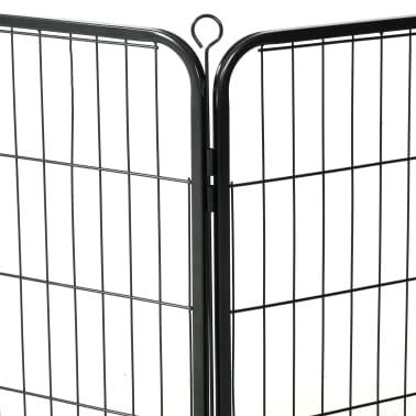 Handla vidaXL Hundhage 16 paneler stål 60x80 cm svart