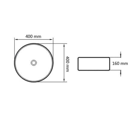 vidaXL Bathroom Basin with Mixer Tap Ceramic Round White