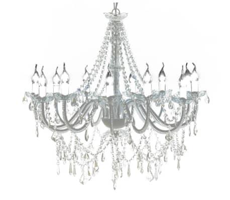 Lampadario classico vetro 1600 cristalli, a sospensione