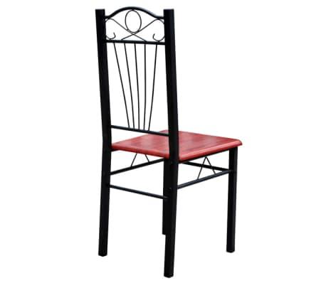 Eetkamertafel met 6 stoelen kastanje bruin  vidaXLnl