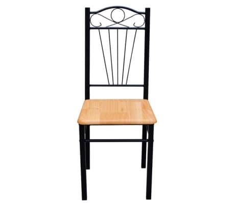 Eetkamertafel met 6 stoelen licht bruin  vidaXLnl