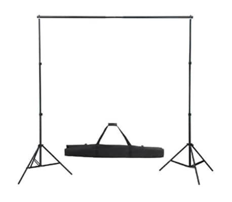 vidaXL Set Studio Fotografico: Fondale Bianco 600x300 cm e