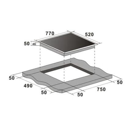 Placa de coccin en vitrocermica Schott 65007800 W