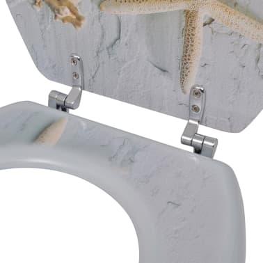vidaXL Toilet Seats with Hard Close Lids MDF Starfish