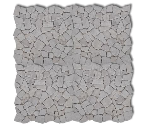 Piastrelle marmo e pietra per mosaico bianco 18 mq  vidaXLit