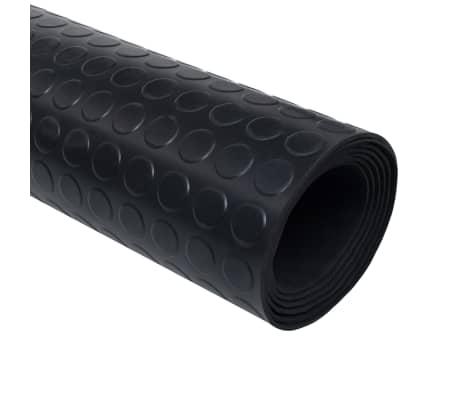 vidaxl tapis en caoutchouc antiderapant avec points 2 x 1 m
