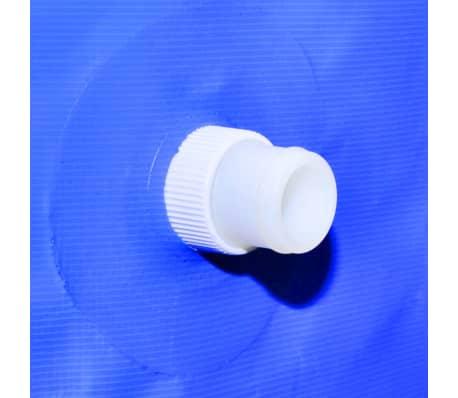 vidaXL Zwembad met ladder en pomp staal 400x207x122 cm