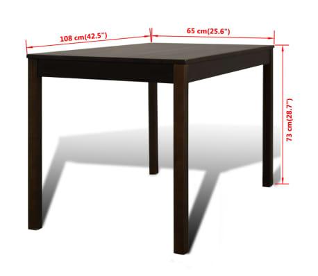 Houten eetkamertafel met vier stoelen bruin online kopen