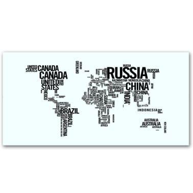 Acheter Bureau rectangulaire avec motif de carte du monde