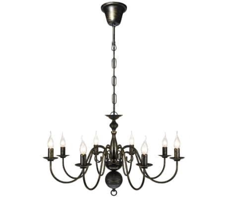 vidaXL Kroonluchter zwart metaal 8 x E14 lampen online