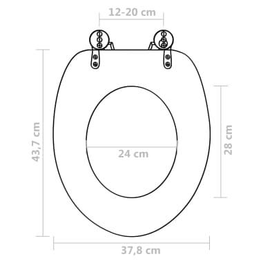 vidaXL Toilet Seats with Hard Close Lids MDF New York