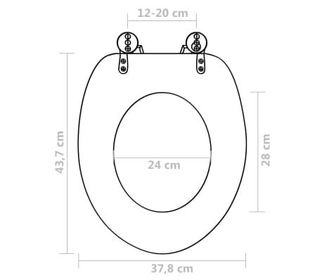 vidaXL Toilet Seats with Hard Close Lids MDF Water