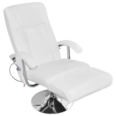 white barber chair uk outdoor chairs for small balcony artificial leather electric tv recliner massage vidaxl 1 6