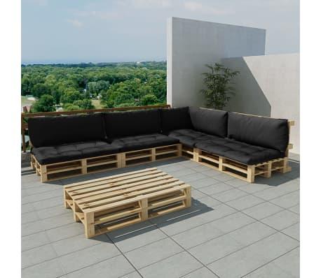 pallet sofa for sale overstock leather vidaxl garten-palettensofa 15-tlg. holz mit 9 auflagen ...