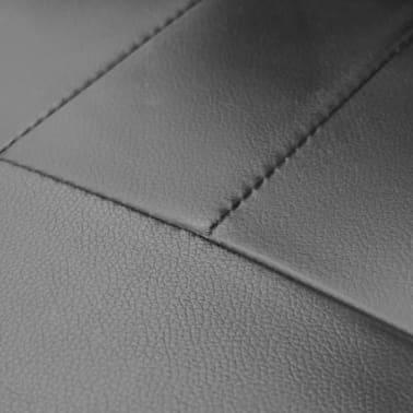office chair height weird rocking chairs luxury leather adjustable swivel black vidaxl com 4