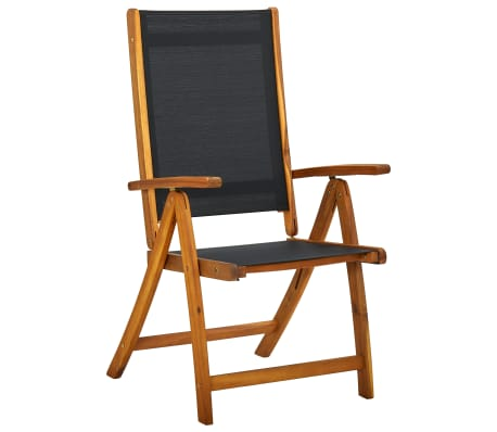 7 Piece Folding Outdoor Garden Dining Set Oval Table And Chairs Acacia Wood EBay