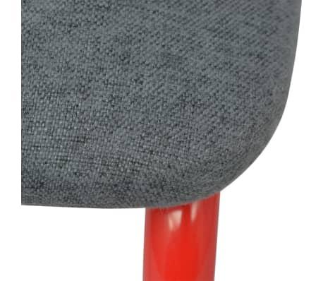 vidaXL Sillasilln de comedor 2 unidades rojo y gris  vidaXLes