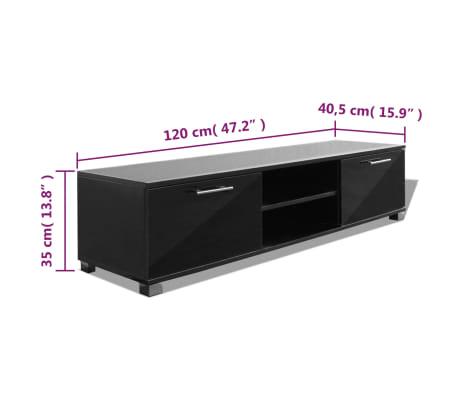 vidaxl meuble tv noir brillant 120 x 40 3 x 34 7 cm