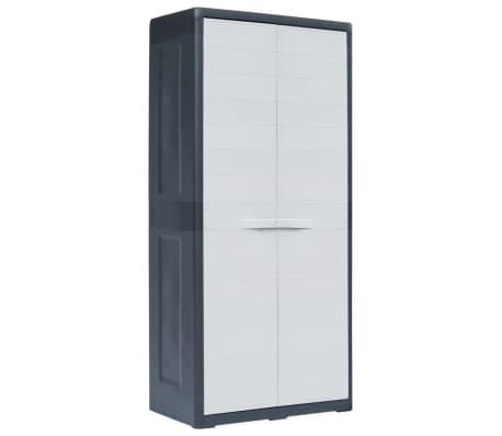vidaxl armoire de rangement de jardin xl 78x46x175 cm plastique