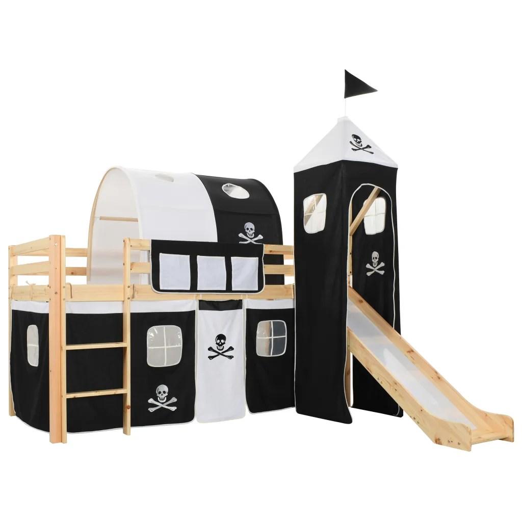 Vidaxl Letto A Castello Per Bambini Scivolo E Scala In Pino 97x208cm Cameretta Ebay