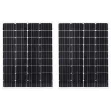vidaXL Ηλιακά Πάνελ Μονοκρυσταλ. 2 τεμ. 100W Αλουμίνιο/Γυαλί Ασφαλείας